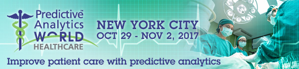 World class keynote speakers at Predictive Analytics World Healthcare, Oct in New York