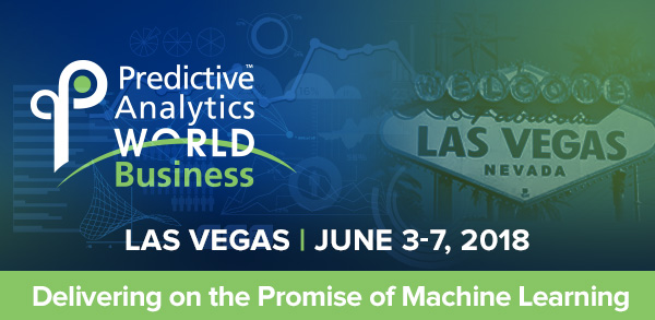 Predictive Analytics World for Business - Google, Verizon, IBM, & Uber taking the stage at PAW Business — this June in Vegas