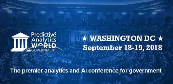 Keynote announced for Predictive Analytics World for Government – 18-19 Sept in Washington, DC