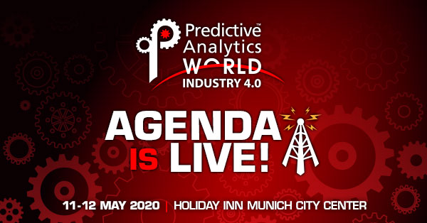 Predictive Analytics World for Industry 4.0 - The 2020 Agenda has just been released!