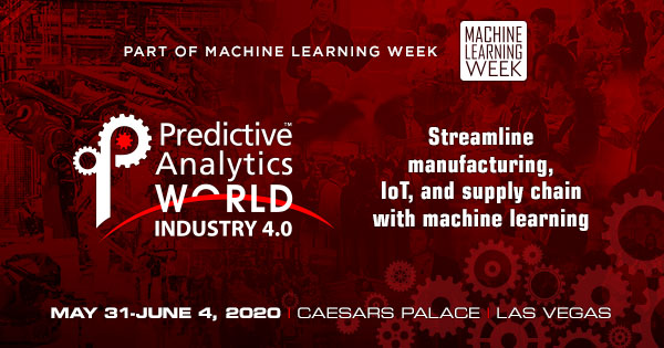 Predictive Analytics World for Industry 4.0 - Valuable Insights from Expert Speakers at Podium in Las Vegas, May 31-June 4
