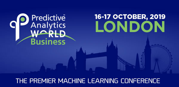 Predictive Analytics World for Business - Only 2 weeks left to register for PAW London 2019
