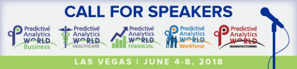 Speak at Predictive Analytics World's 2018 Mega-Event in Las Vegas